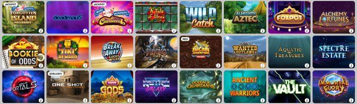 Betway Casino Auswahl der besten Slots